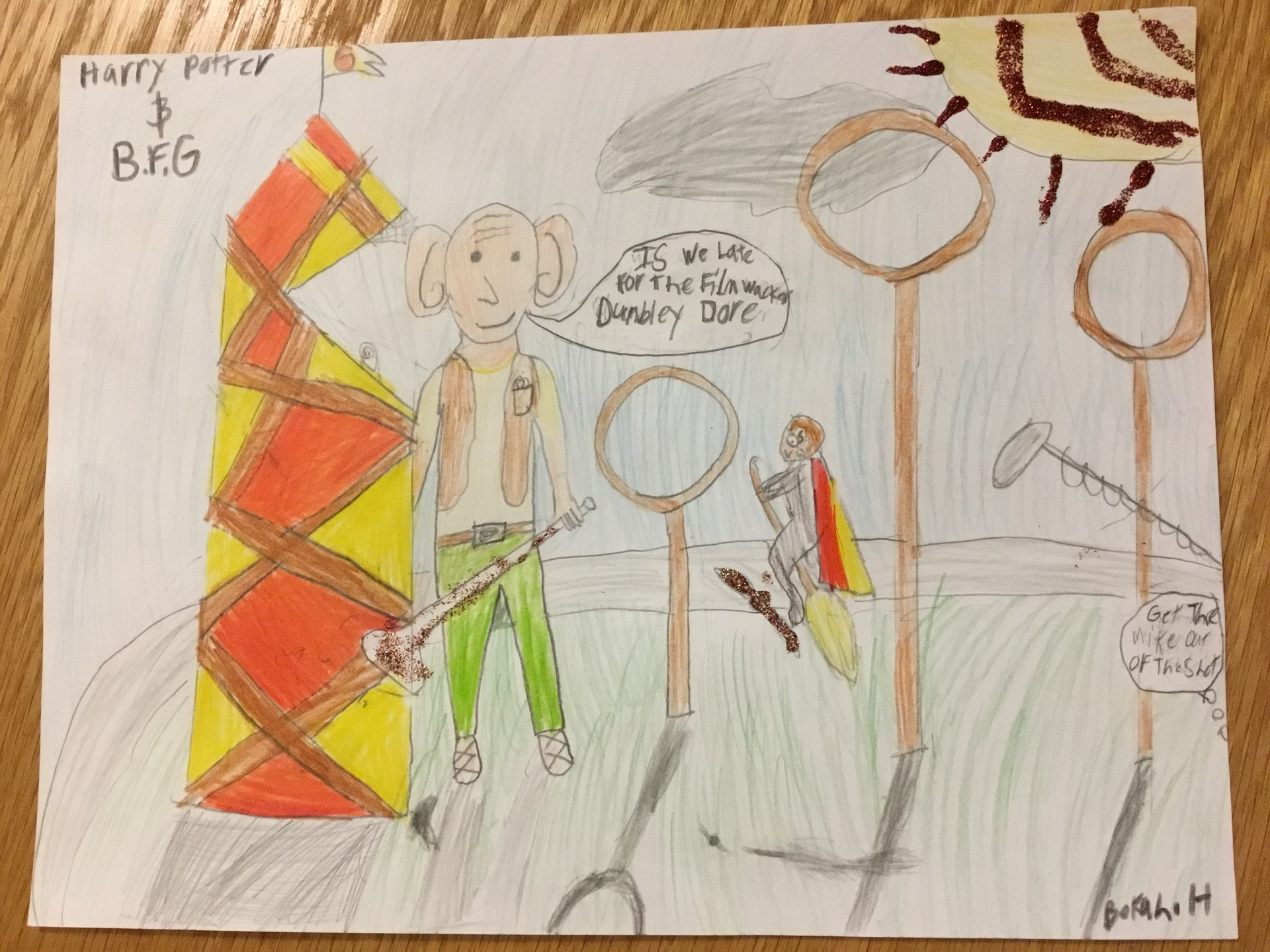 Movie-Book Mash-up student drawing