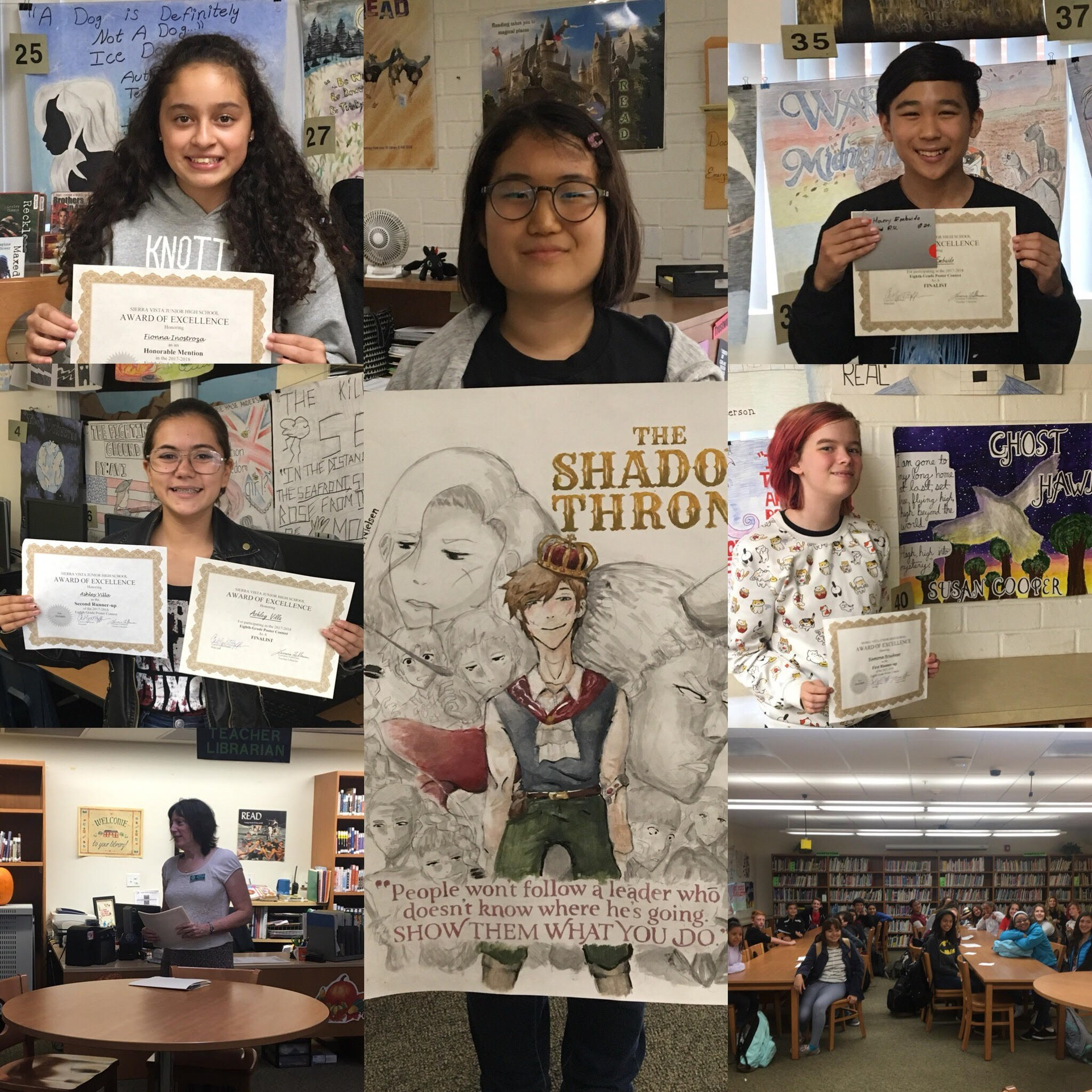 collage of winners with their posters