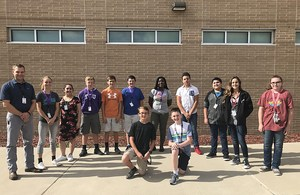 All-Region band students from Alvarado Junior High standing in a line.