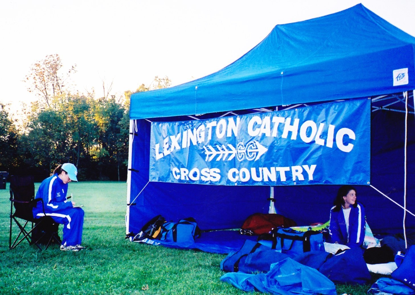 2005 Coach Danielle Courts and Katheen Gallagher at Region & History in Photos u2013 Cross Country u2013 Lexington Catholic High School
