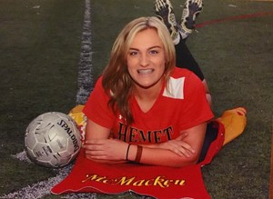 Keely McMacken's soccer picture.