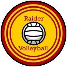 Raider volleyball logo