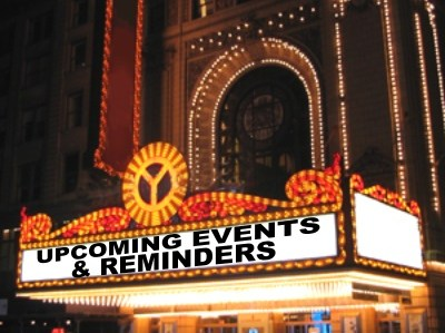 10-10-17 Upcoming Events and Reminders Featured Photo