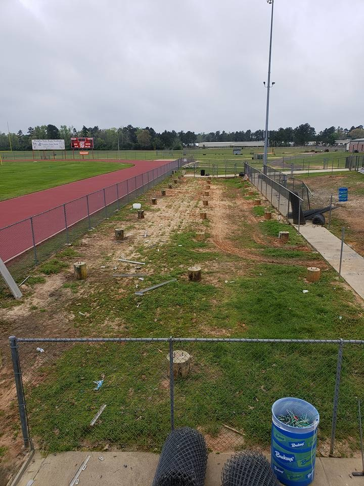 Photo of Trojan Stadium with bleachers being removed