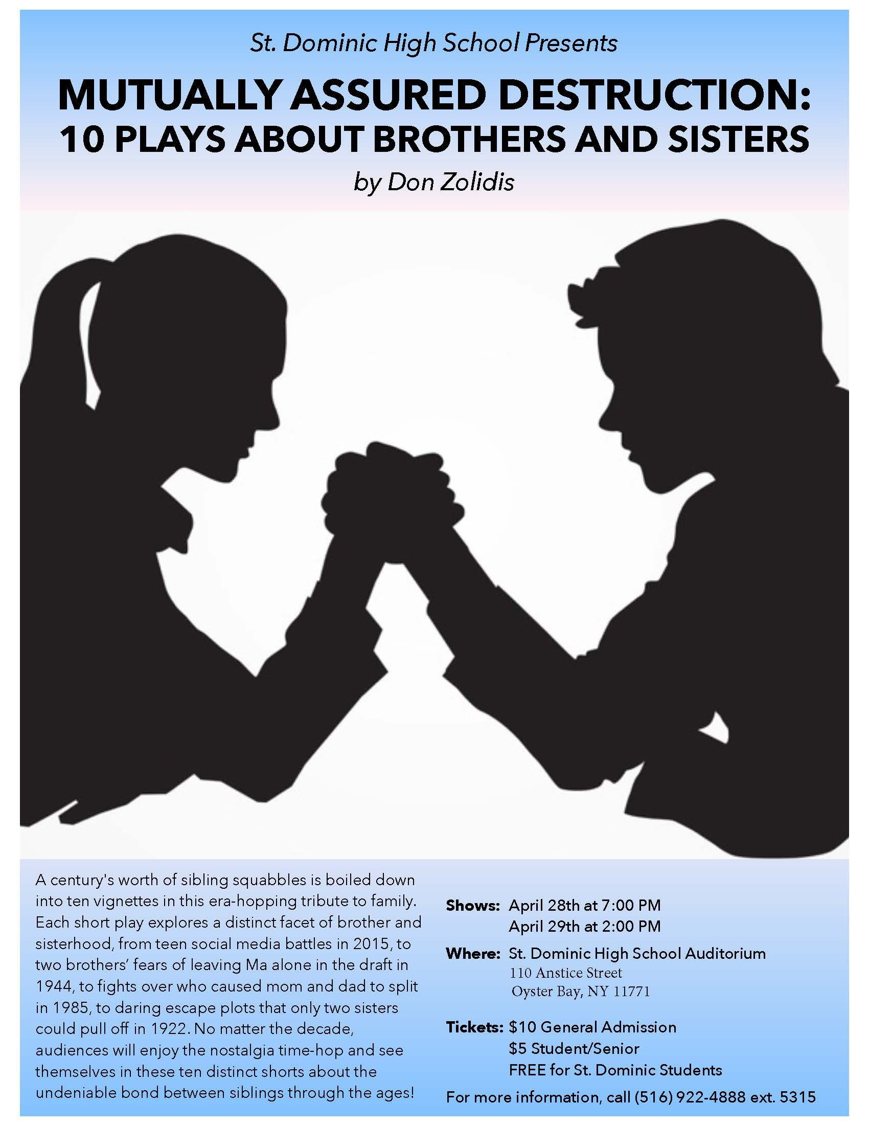 mutually assured destruction 10 plays about brothers and sisters pdf