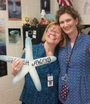 Mrs. Rumery receives Starfish Award