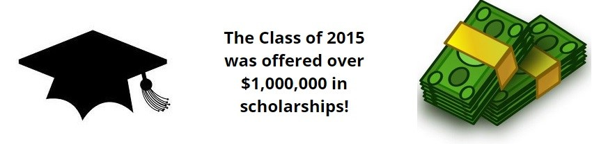 The students were offered $1,000,000 in scholarships