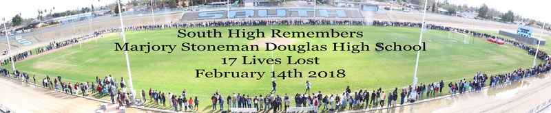 On March 14th the South High Student Body held a moment of silence for the 17 victims in the Parkland, Florida community Thumbnail Image