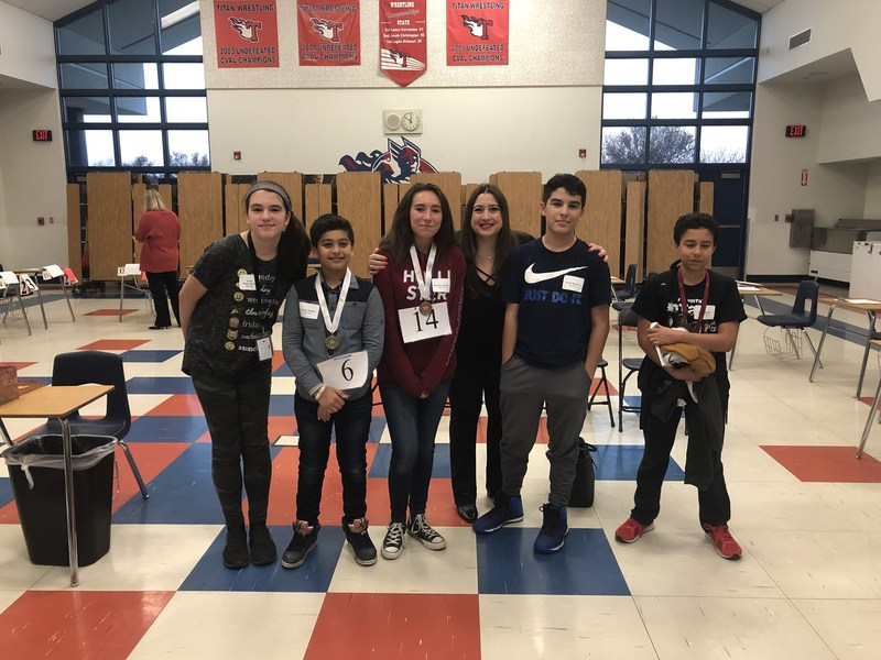 Titans Spelling Bee Winners