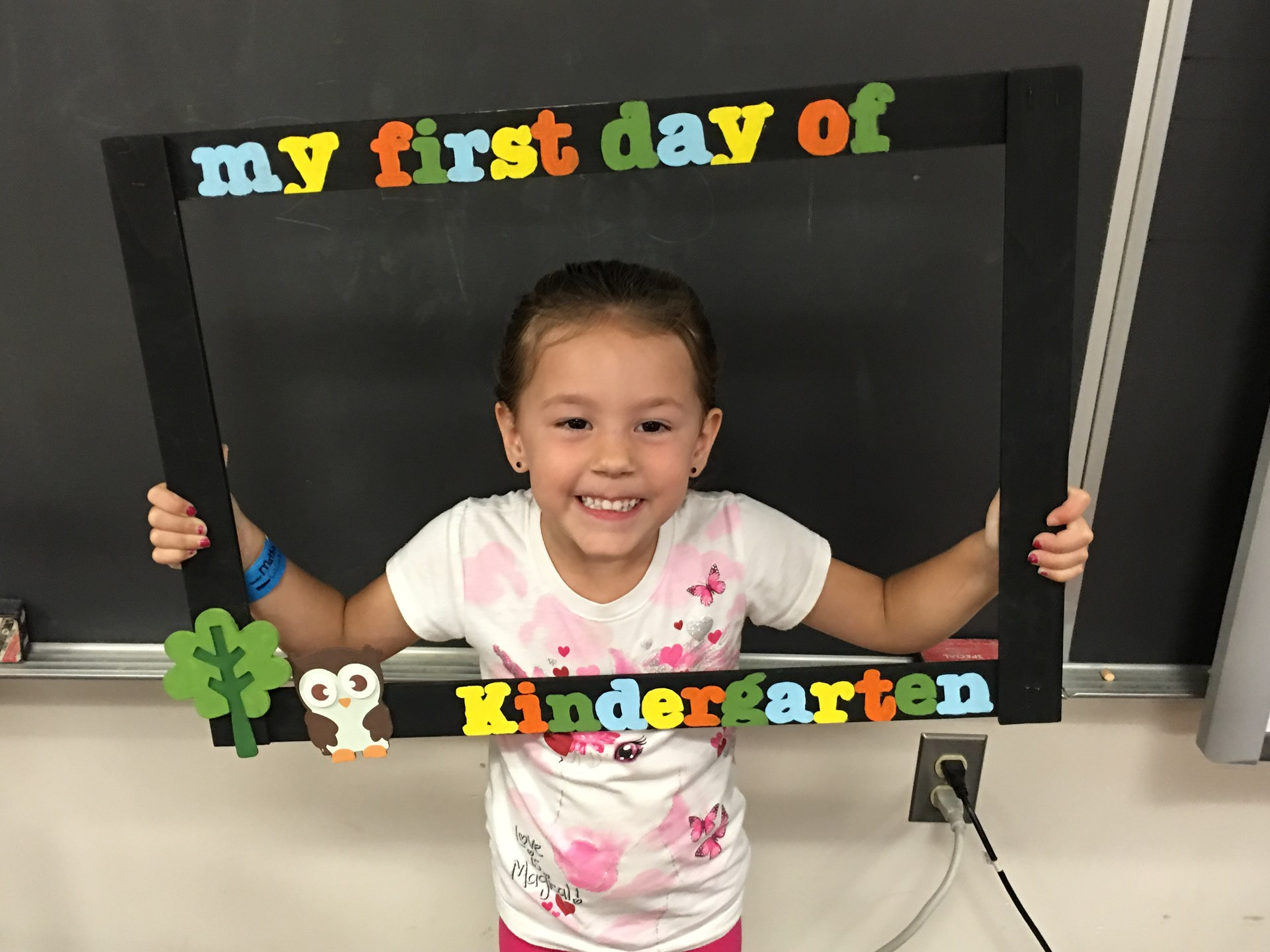 First day of kindergarten.