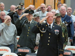 TKHS hosts annual Veterans Day community event paying honor to local veterans.