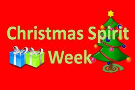 Christmas Spirit Week with tree and presents