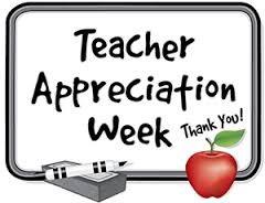 Teacher Appreciation Week ~ May 1st - May 5th Thumbnail Image