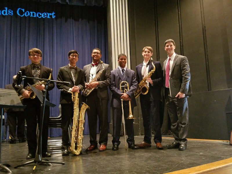 Five Holy Cross Musicians Perform with District Jazz Band Featured Photo