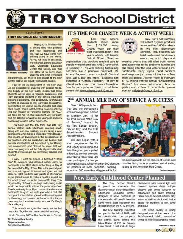 Photo of front cover of TSD newspaper