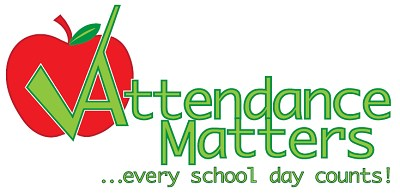 Attendance matters every school day counts logo