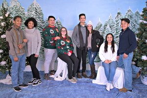Royal Court, left to right- Kieren Davis and Rian Schults, 10th grade; Zander Adams and Katy Beth Rollins, 11th grade; King Erik Lopez and Queen Beatrice Martinez, 12th grade; Alexis Valley-Ramirez and Emilio Infante, 9th grade.