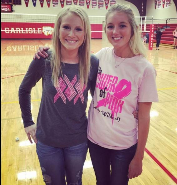 Pink out volleyball match