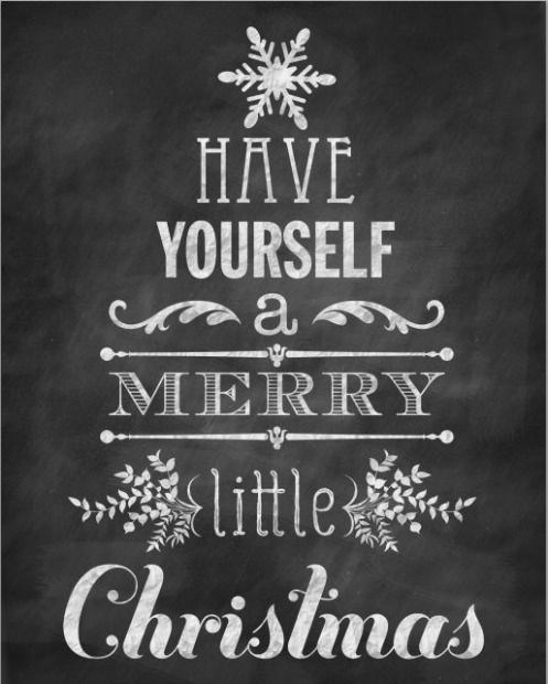 Have Yourself a Merry Little Christmas Chalkboard Sign