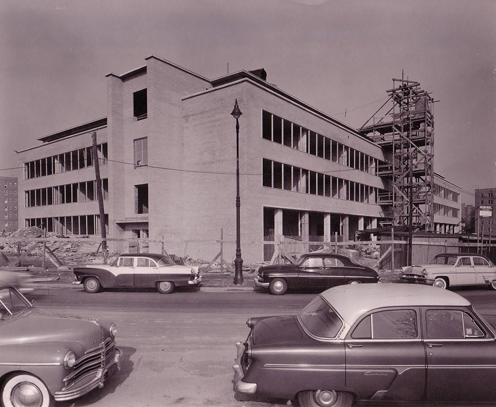 Molloy under construction in 1957.