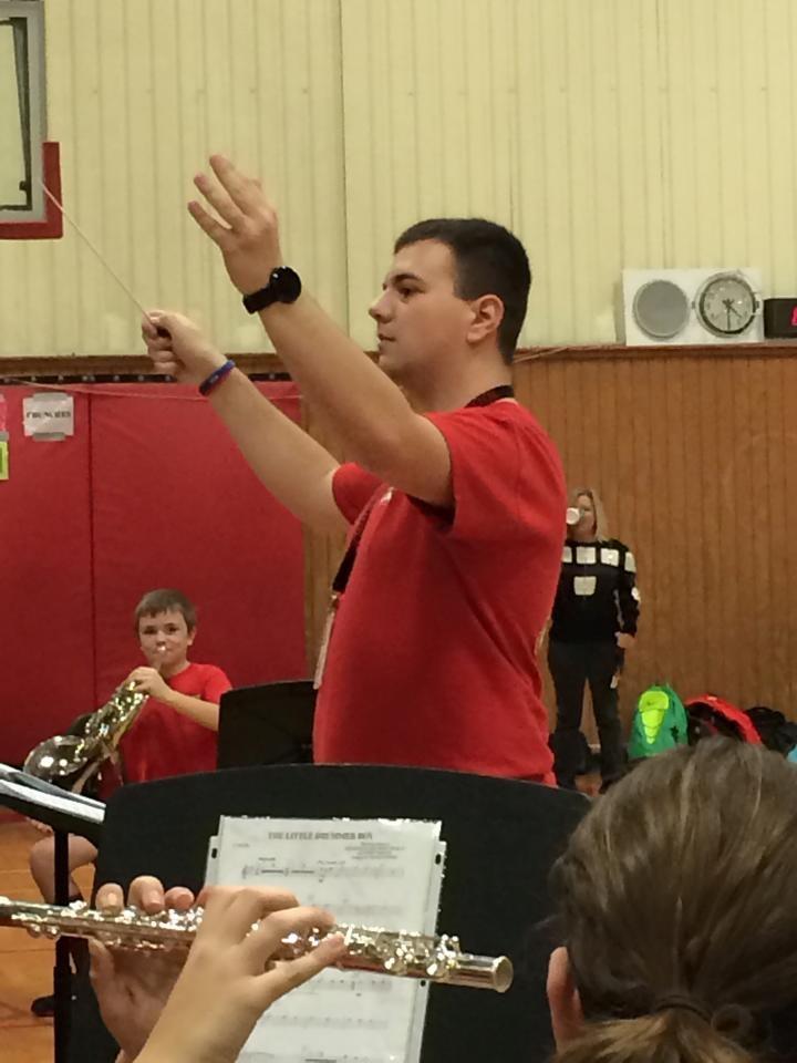 Mr. Gutic conducting the beginner band.