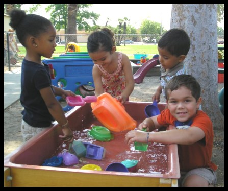 Children enjoying water play