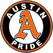 A picture of the Austin High Pride logo appears.