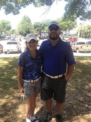 Maddie Reyes and her father Eddie