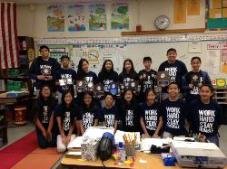 The Monterey Highlands FBLA team with their awards from the Mission Valley FBLA Section Conference.