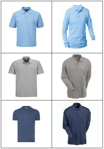 Examples of School Uniform Tops