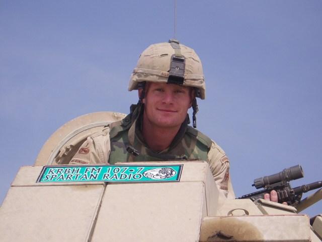 KRBH bumper sticker in IRAQ...Lt. Rottenberg