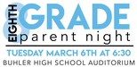 8th Grade Parent Night Header