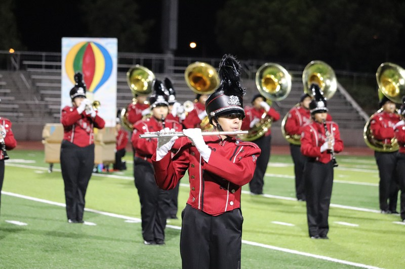 BPUSD_SVHS_BAND_1: Sierra Vista High School's marching band performs during its award-winning fall semester. The group will perform at Disneyland on Dec. 12.