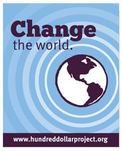 Graphic of the world, text - Change the World.