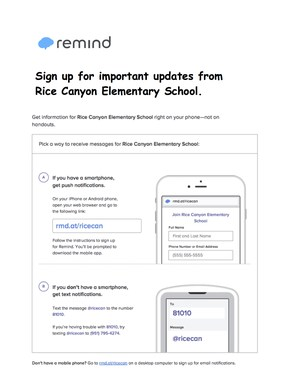 How to sign up for the RCE Remind.