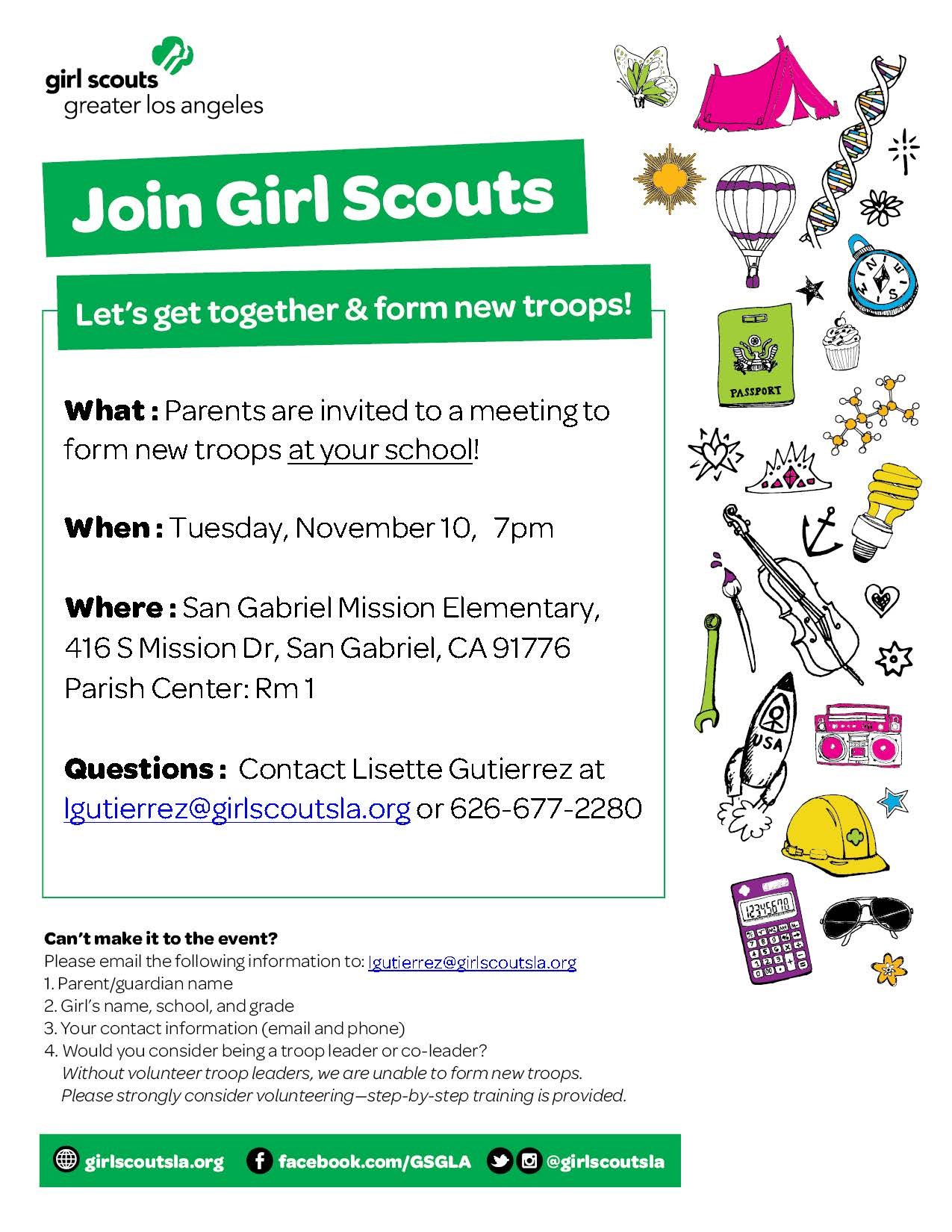 Girl Scout Application Form
