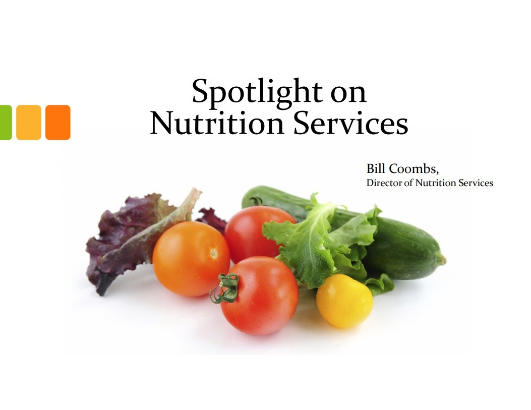 spotlight on nutrition services flyer