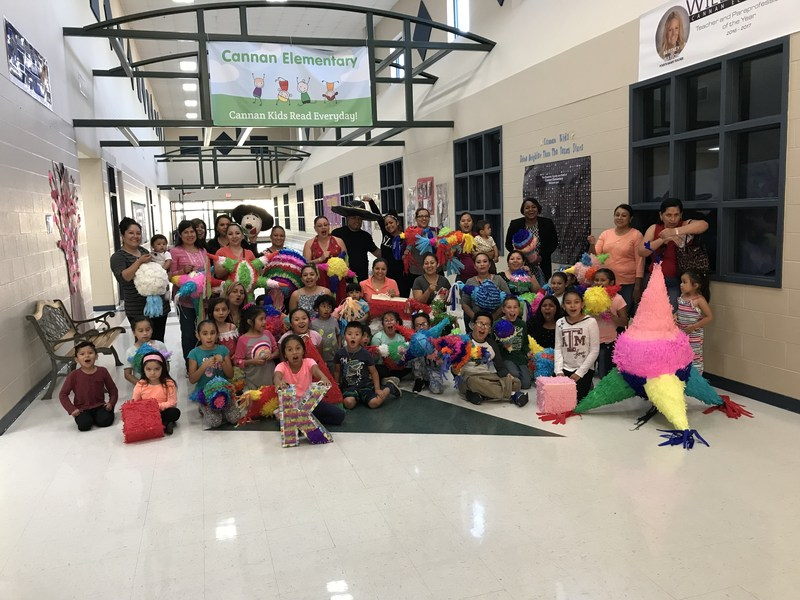 Piñata Party with our parents, staff, and students!