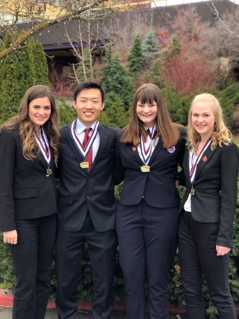 Students from HOSA conference.