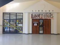 Banned Book Window Display