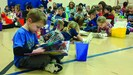 All Dix Street students read together for 10 minutes.