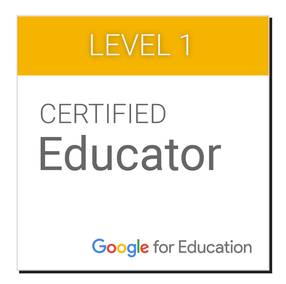 Google Certified Educator Level 1 badge