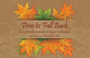 fall back November 5th
