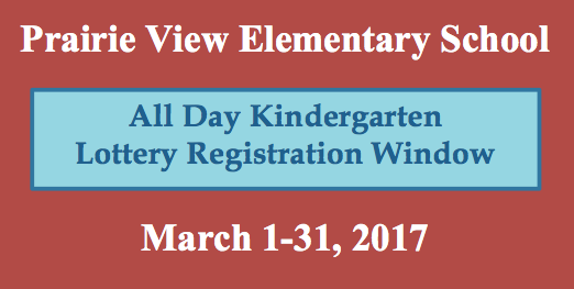 Prairie View Elementary Kindergarten Lottery Featured Photo