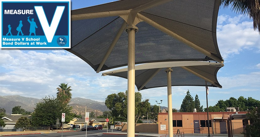 Machado ES Loading Zone Shade Structure, Measure V summer project