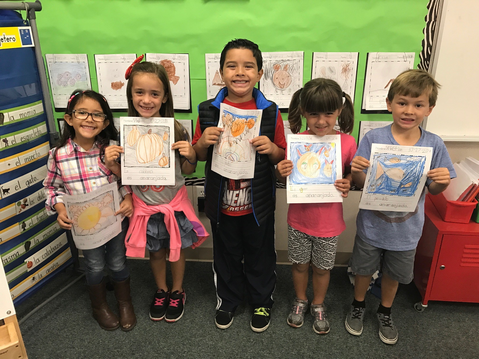 Students show off their writing