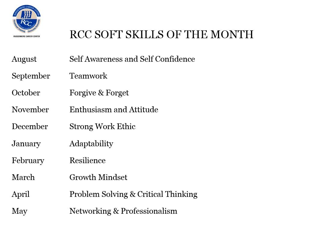 RCC Soft Skills of the Month