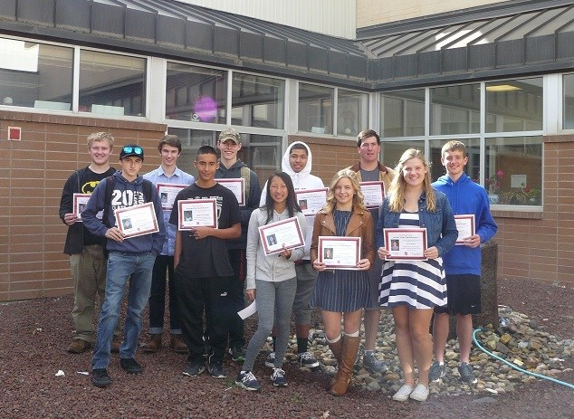 CHS SEPTEMBER STUDENTS OF THE MONTH Thumbnail Image