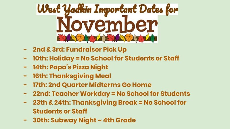 November Important Dates Thumbnail Image