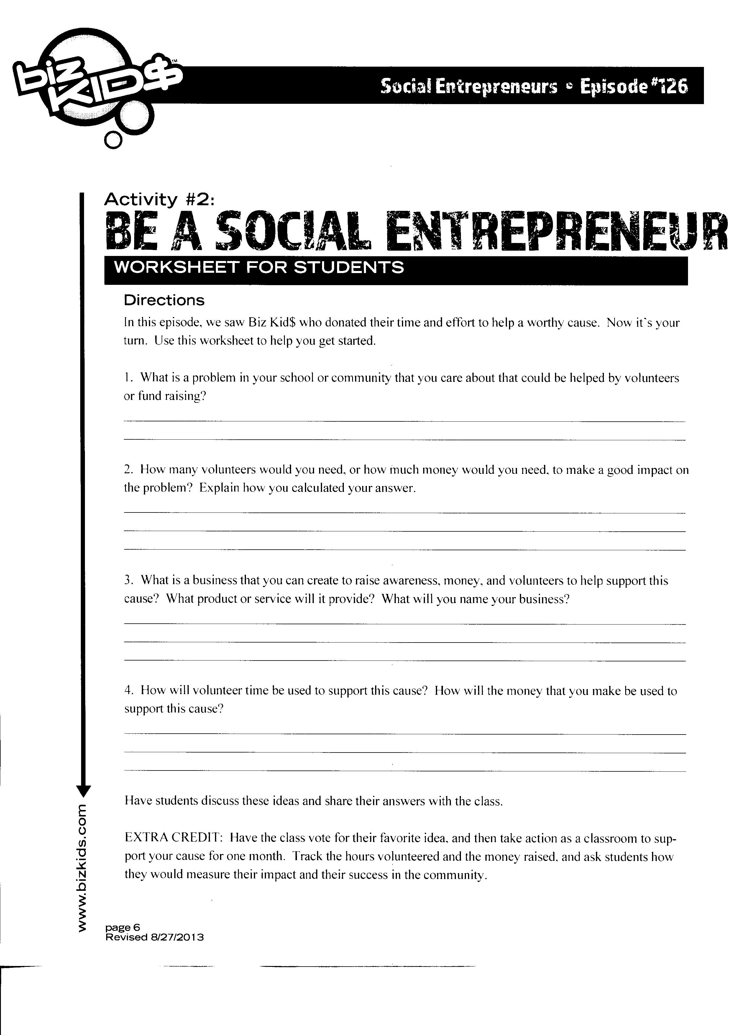 entrepreneurship worksheets high school entrepreneurship best free printable worksheets. Black Bedroom Furniture Sets. Home Design Ideas